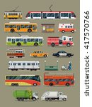 large vector set of public ... | Shutterstock .eps vector #417570766