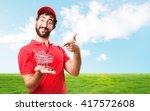 crazy dealer happy expression | Shutterstock . vector #417572608