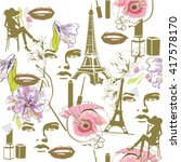 fashion background with... | Shutterstock .eps vector #417578170