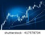 stock market chart. business... | Shutterstock . vector #417578734