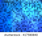 blue mosaic tiles with internal ... | Shutterstock .eps vector #417580840