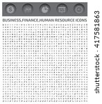 big business icons finance... | Shutterstock .eps vector #417581863