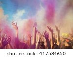 celebrants dancing during the... | Shutterstock . vector #417584650
