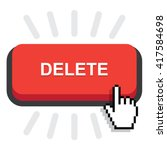 red rounded delete button on...   Shutterstock .eps vector #417584698