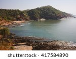 tropical view to the ocean ... | Shutterstock . vector #417584890