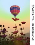 colorful hot air balloons   Shutterstock . vector #417585928