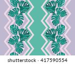 tropical leaves. print with... | Shutterstock .eps vector #417590554