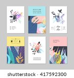 set of creative universal... | Shutterstock .eps vector #417592300