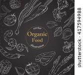 organic food banner for menu...   Shutterstock .eps vector #417594988