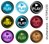 clipart color icons play and...   Shutterstock .eps vector #417595150