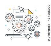 content management concept... | Shutterstock .eps vector #417606070