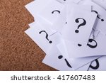 closeup shot of a lot of paper... | Shutterstock . vector #417607483