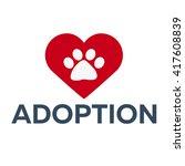 adopt logo. dont shop  adopt.... | Shutterstock .eps vector #417608839