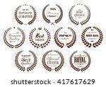 premium quality laurel wreaths... | Shutterstock .eps vector #417617629