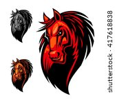 Wild Cartoon Horse For Mascot...