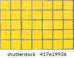 closeup of old yellow dirty... | Shutterstock . vector #417619936