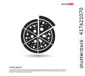 classic pizza icon  | Shutterstock .eps vector #417621070