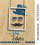 happy father's day. vector... | Shutterstock .eps vector #417622264