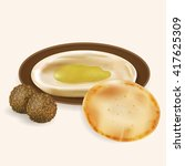 illustration of hummus with...   Shutterstock .eps vector #417625309