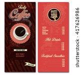 coffee shop menu design... | Shutterstock .eps vector #417626986