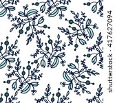 amazing floral pattern with...   Shutterstock .eps vector #417627094