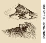 sand dunes sketch | Shutterstock .eps vector #417628108