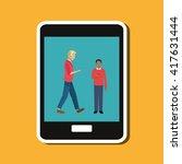 technology design. social media ... | Shutterstock .eps vector #417631444