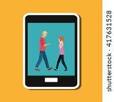 technology design. social media ... | Shutterstock .eps vector #417631528