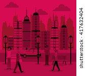 smart city design. social media ...   Shutterstock .eps vector #417632404