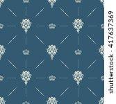royal wallpaper seamless...   Shutterstock . vector #417637369
