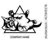 cat logo isolated on white... | Shutterstock .eps vector #417645178