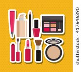 make up design. cosmetic icon.... | Shutterstock .eps vector #417646390