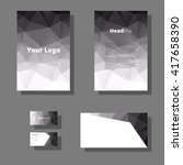black and white polygon... | Shutterstock .eps vector #417658390