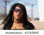 fashion shoot in helsinki ... | Shutterstock . vector #41765845