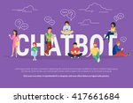 chatbot concept illustration of ... | Shutterstock .eps vector #417661684
