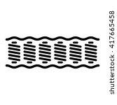 spring mattress | Shutterstock .eps vector #417665458