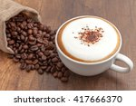 coffee cappuccino and coffee... | Shutterstock . vector #417666370