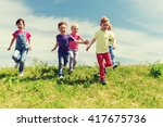 summer  childhood  leisure and... | Shutterstock . vector #417675736