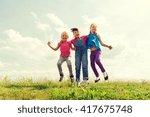 summer  childhood  leisure and...   Shutterstock . vector #417675748