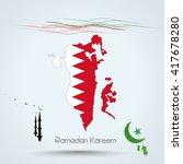 ramadan kareem  feast of...   Shutterstock .eps vector #417678280