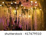 luxury beautiful decor evening... | Shutterstock . vector #417679510