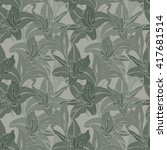 Seamless Pattern With Amarylli...