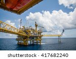 offshore construction platform... | Shutterstock . vector #417682240