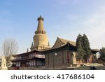 Small photo of ZHANGYE, CHINA - MARCH 8 2016: The Giant Buddha Temple. The national AAAA tourist scenic spot, famous historic site in Zhangye, Gansu, China.