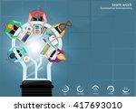vector businessman... | Shutterstock .eps vector #417693010