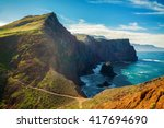 majestic view of the cliffs at... | Shutterstock . vector #417694690