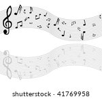 vector music notes. | Shutterstock .eps vector #41769958