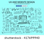 ux website design  concept with ... | Shutterstock .eps vector #417699940