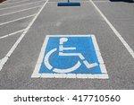 handicapped parking spot  ... | Shutterstock . vector #417710560