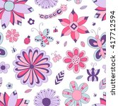 seamless floral pattern.... | Shutterstock .eps vector #417712594